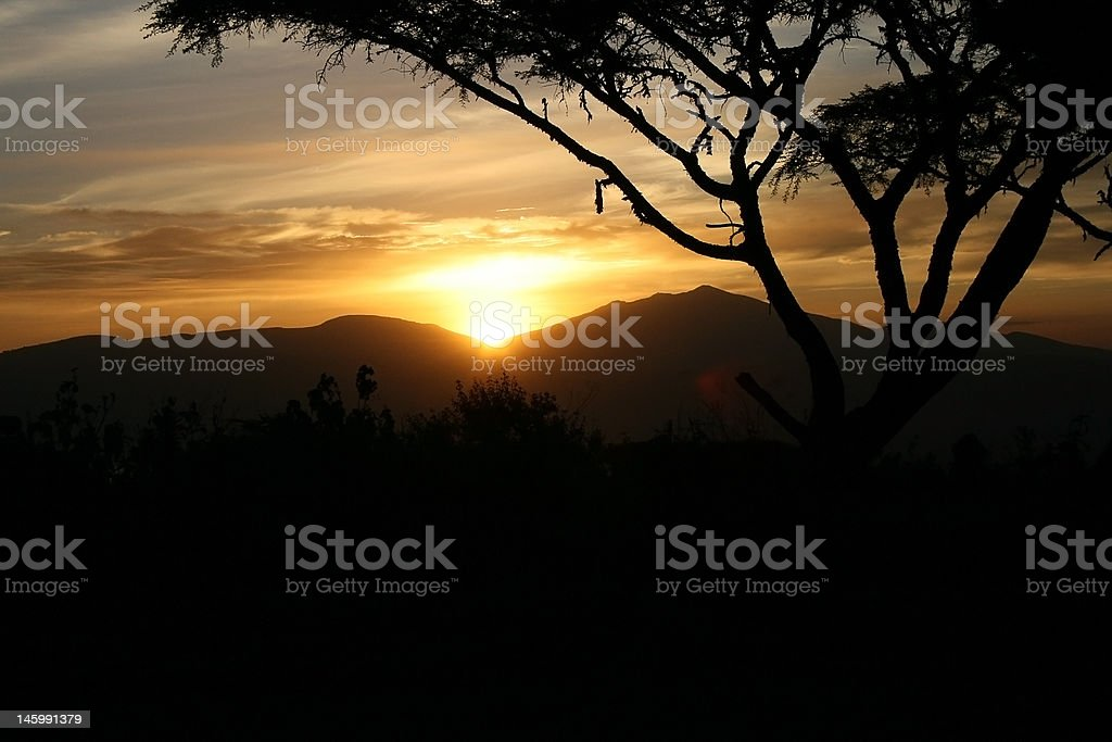 Sahara Sunset royalty-free stock photo