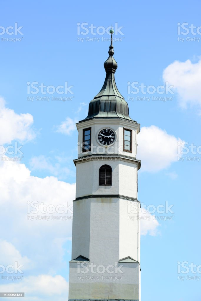 Sahat kula (clock tower) at Kalemegdan fortress in Belgrade, Serbia stock photo