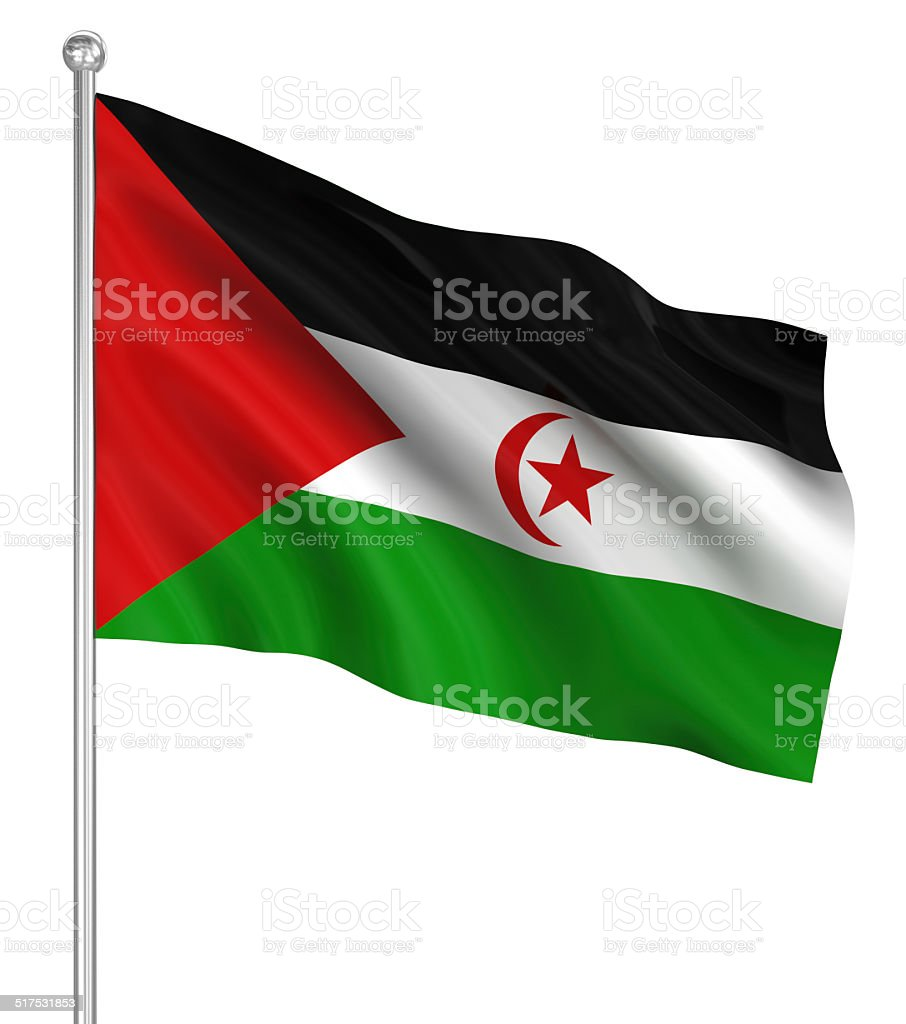Sahrawi Arab Democratic Republic flag stock photo