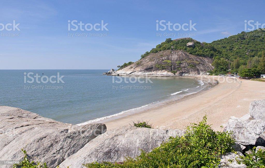 Sai Noi Beach Near Hua Hin In Thaialnd stock photo