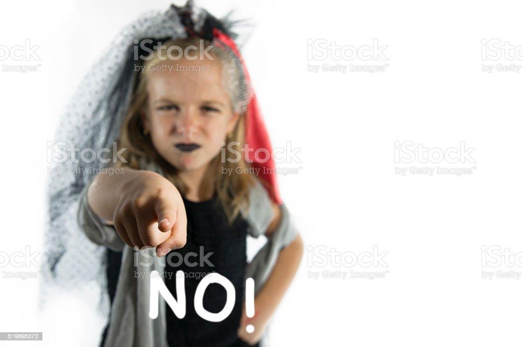 I said NO! stock photo