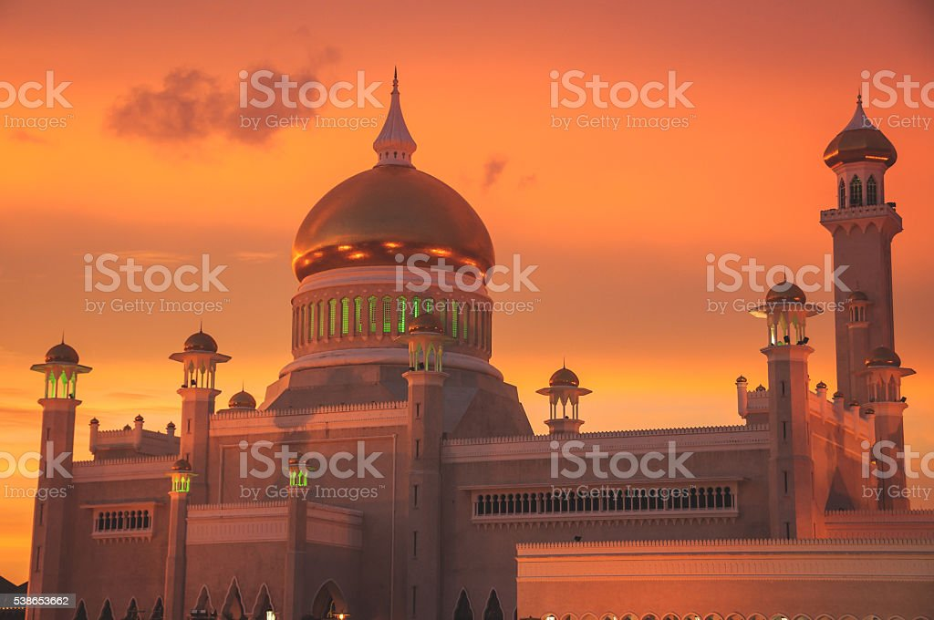 Saifuddin mosque in Brunei stock photo