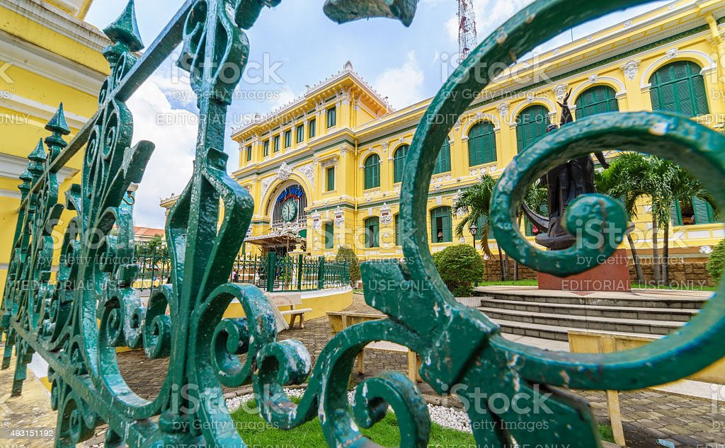 Saigon Central Post Office in Ho Chi Minh city, Vietnam stock photo