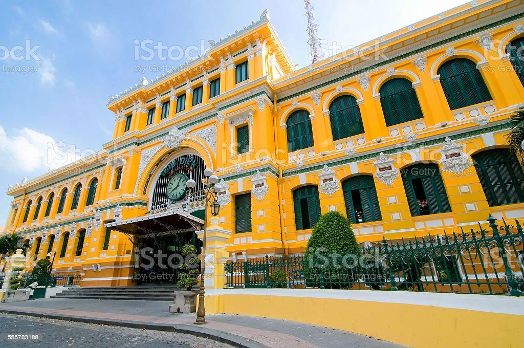 Saigon Central Post Office of Ho Chi Minh city, Vietnam stock photo