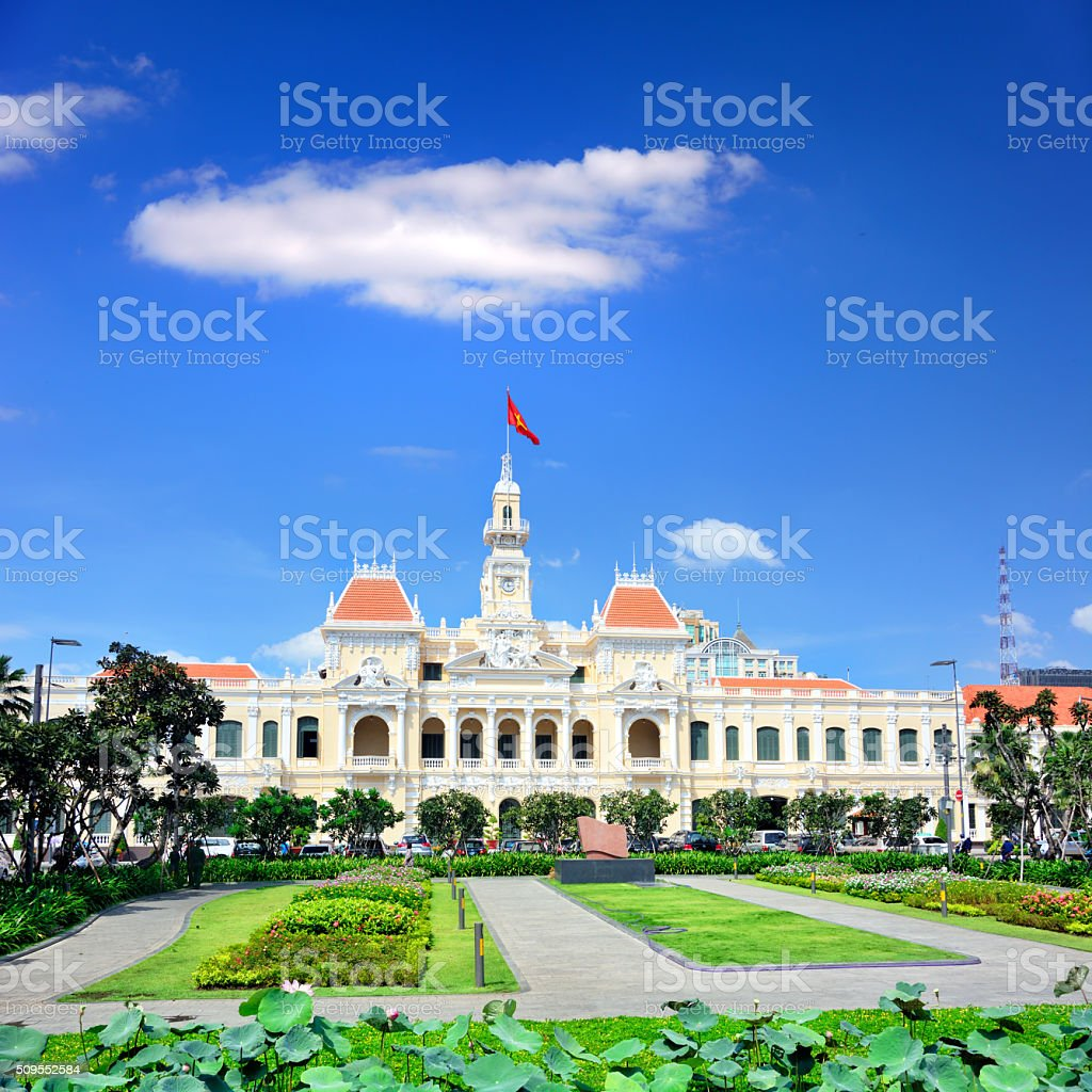 Saigon City Hall stock photo