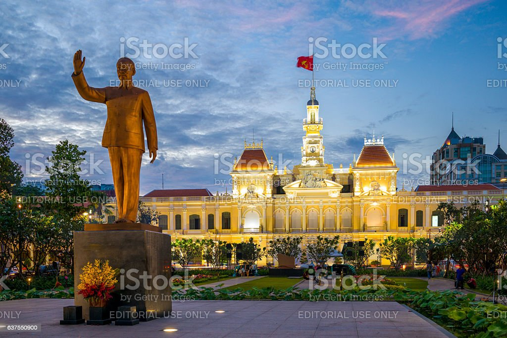 Saigon City Hall stock photo