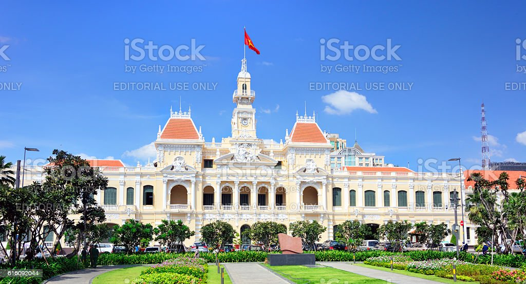 Saigon City Hall, Vietnam stock photo