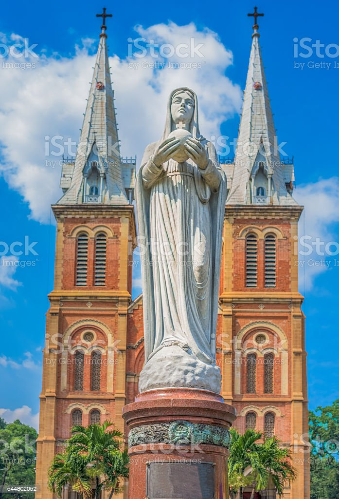 Saigon Notre-Dame Basilica, Ho Chi Minh City, Vietnam stock photo