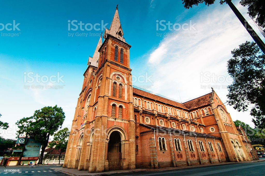 Saigon Notre-Dame Basilica, Vietnam stock photo