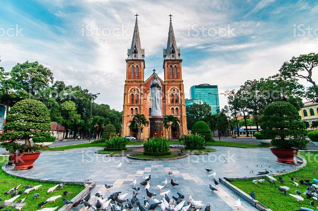 Saigon Notre-Dame Basilica, Vietnam stock photo