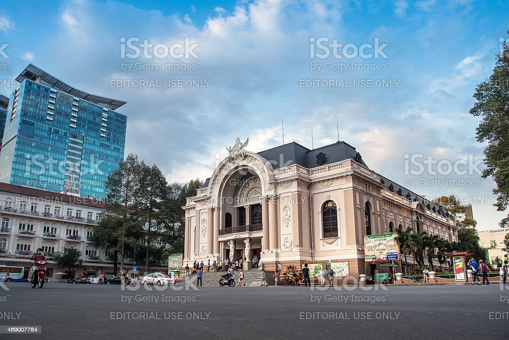 Saigon Opera House stock photo