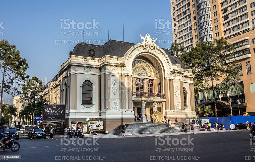 Saigon Opera House stock photo