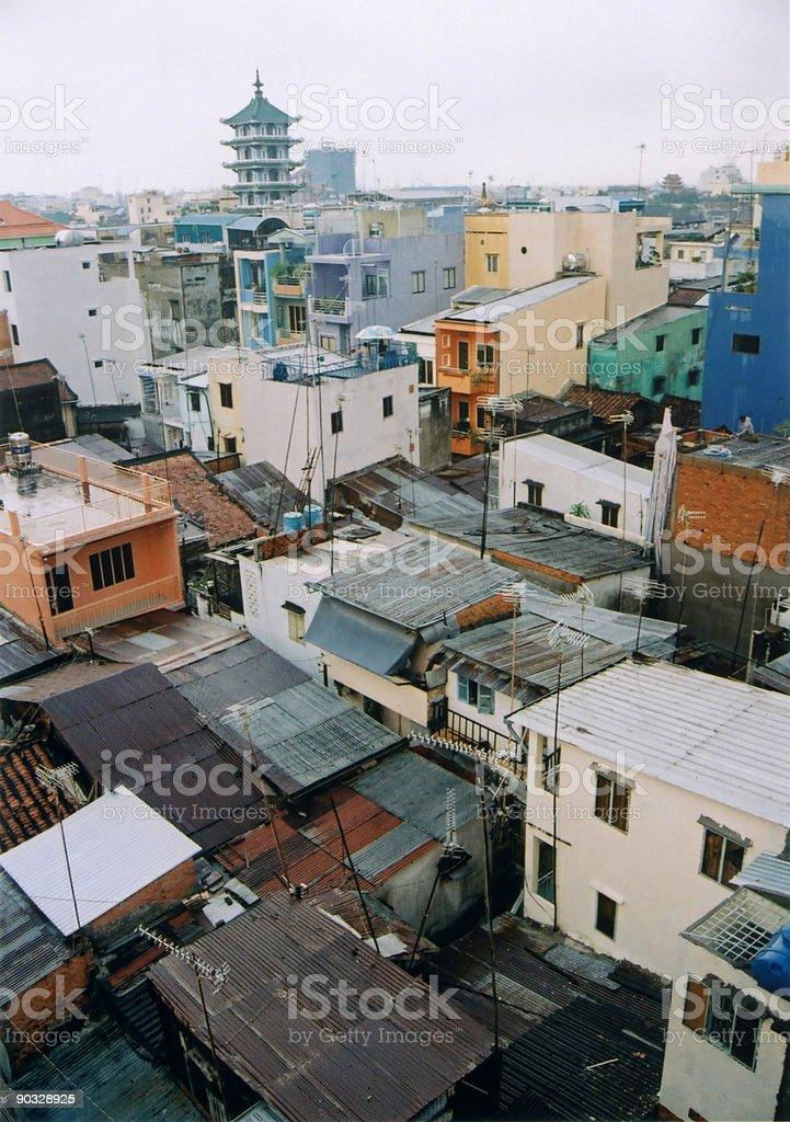 saigon rooftops stock photo