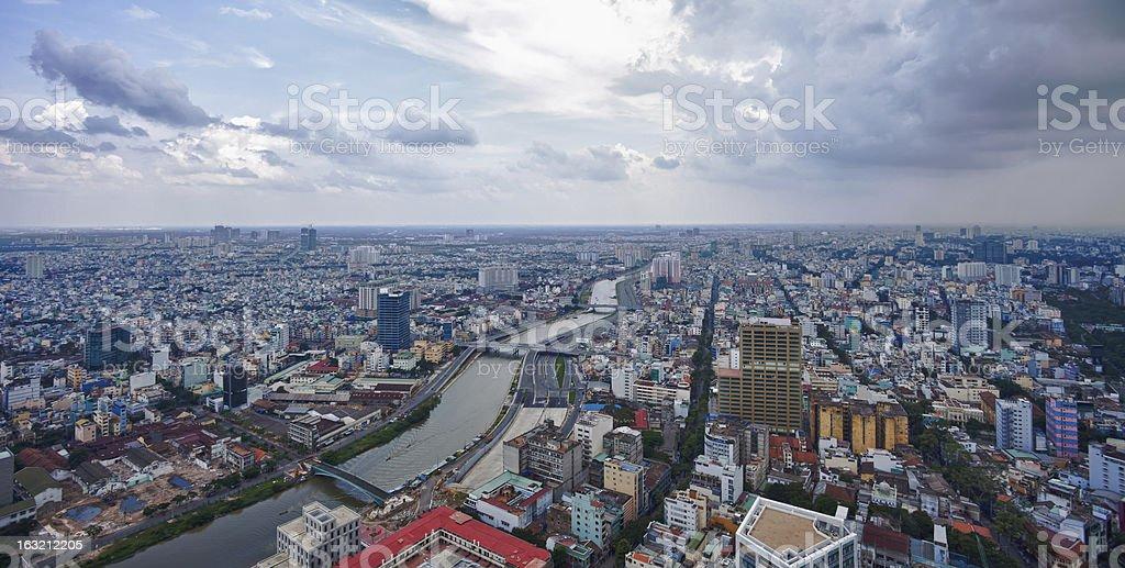 Saigon Skyline, Vietnam stock photo