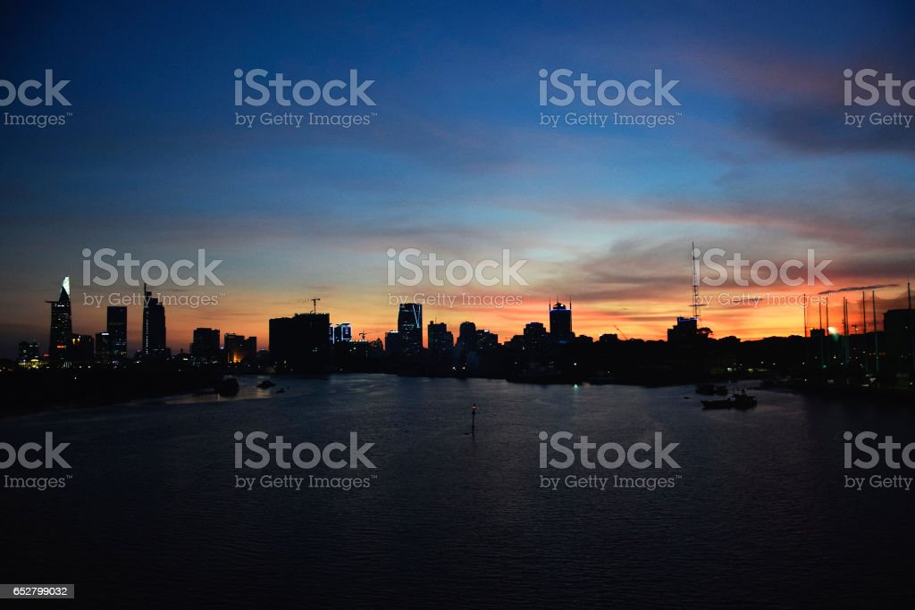 Saigon sunset stock photo