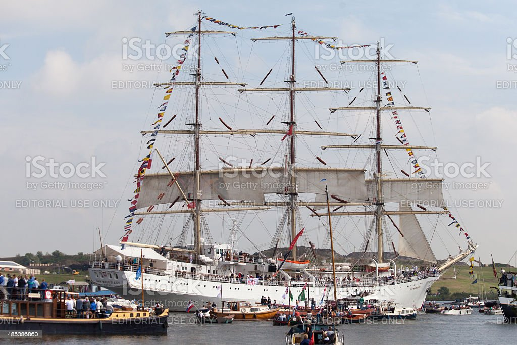 Sail Amsterdam 2015 - Tall Ship stock photo