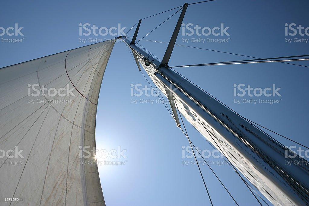 Sail and mast royalty-free stock photo