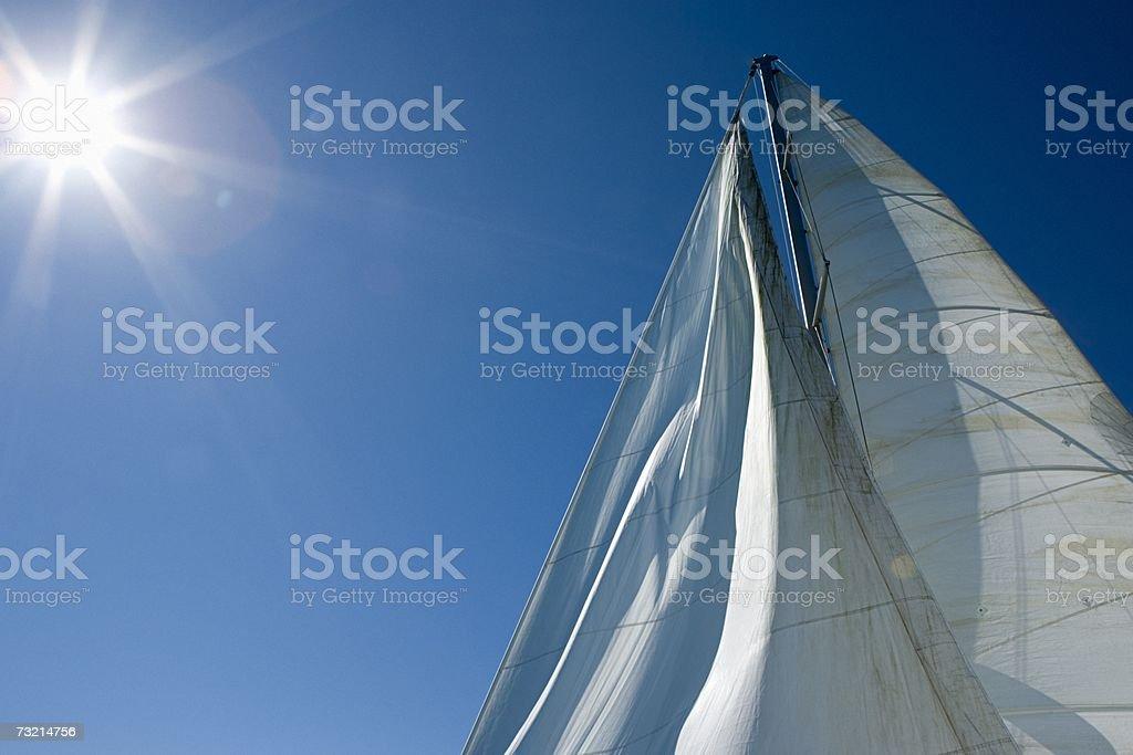 Sail and mast stock photo