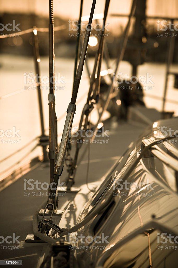 Sail Boat at Sunset royalty-free stock photo