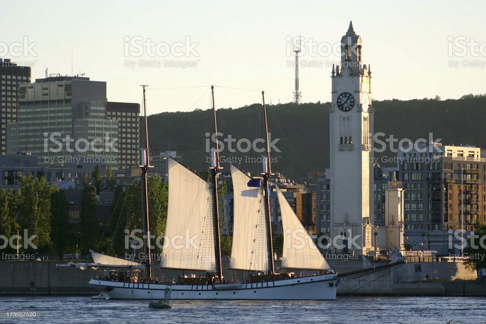 Sail Boat in old Montreal royalty-free stock photo