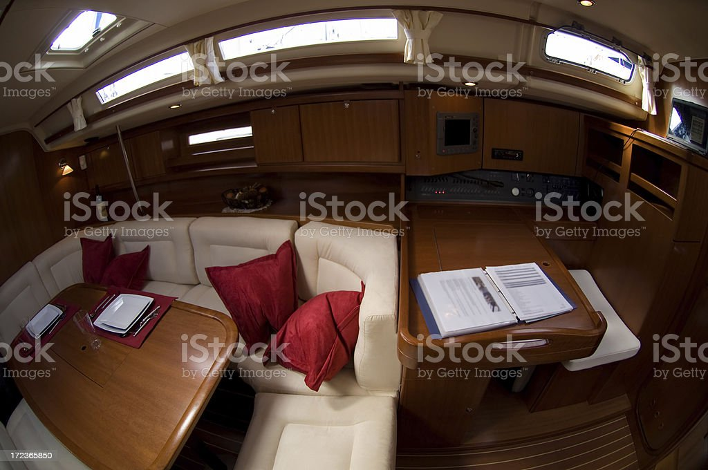 Sail boat interior royalty-free stock photo