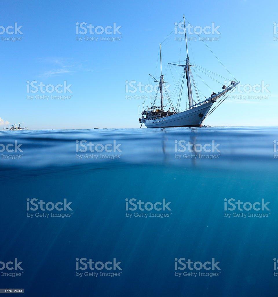 Sail boat stock photo