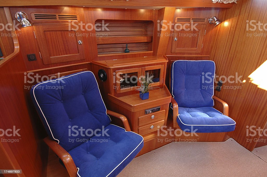Sail boat - seating for two royalty-free stock photo
