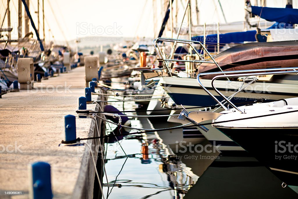 Rejs łodzie w Zatoce w rovinj zbiór zdjęć royalty-free