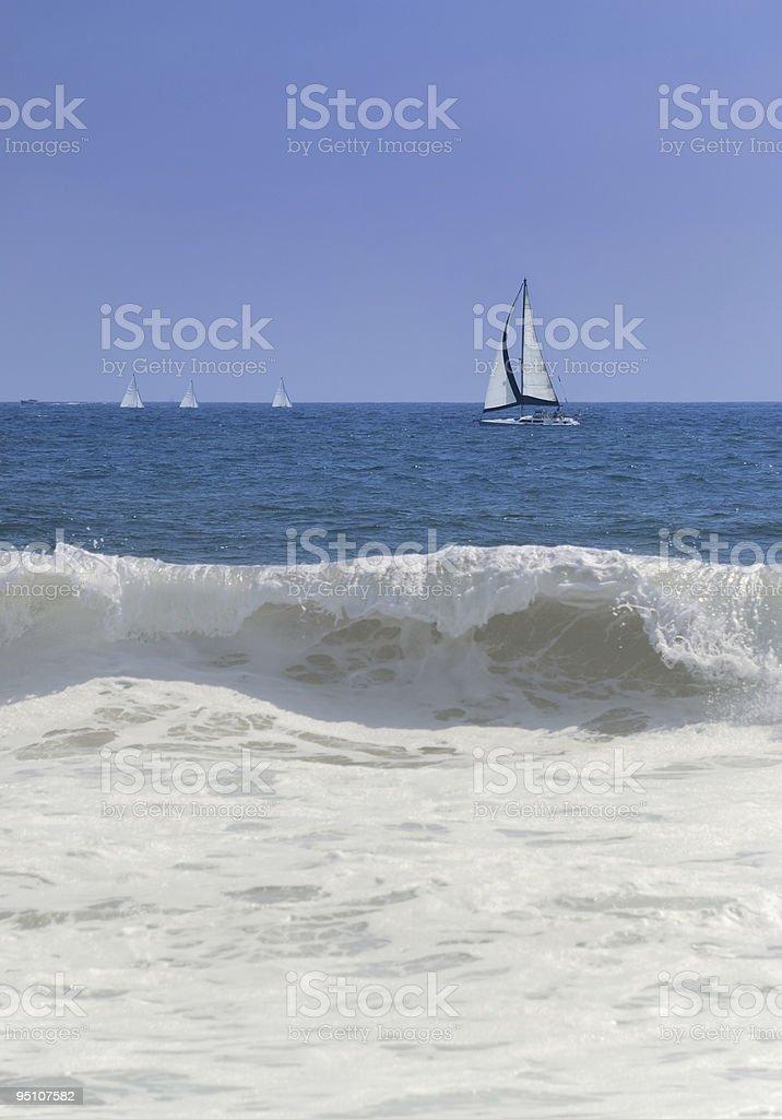 Sail boats royalty-free stock photo
