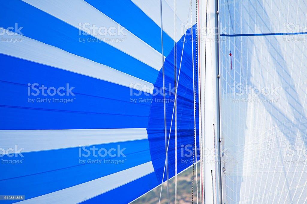 Sail detail stock photo