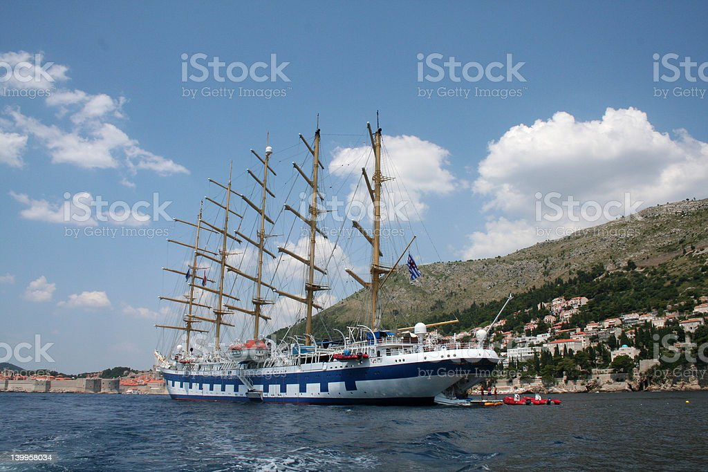 sail ship and her baby's royalty-free stock photo