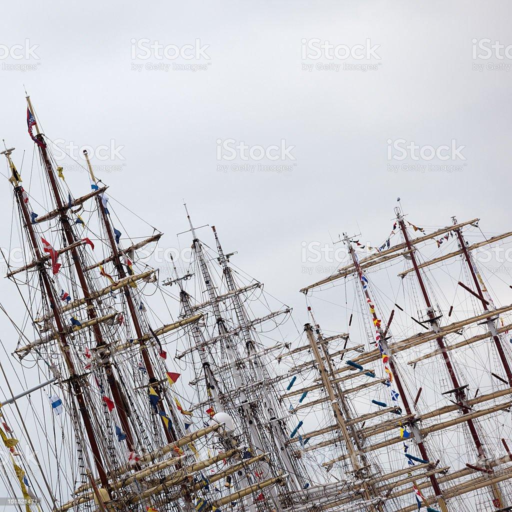 Sail ship rigging royalty-free stock photo