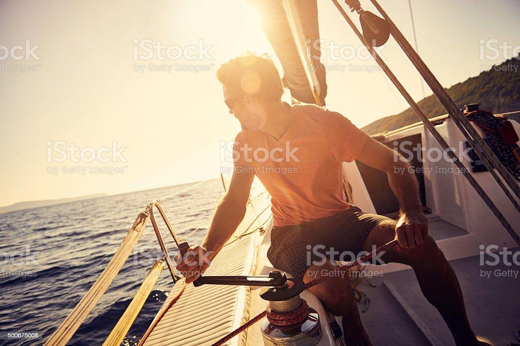 Sail the seas stock photo