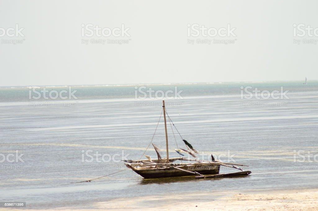 Sail without a sail stock photo