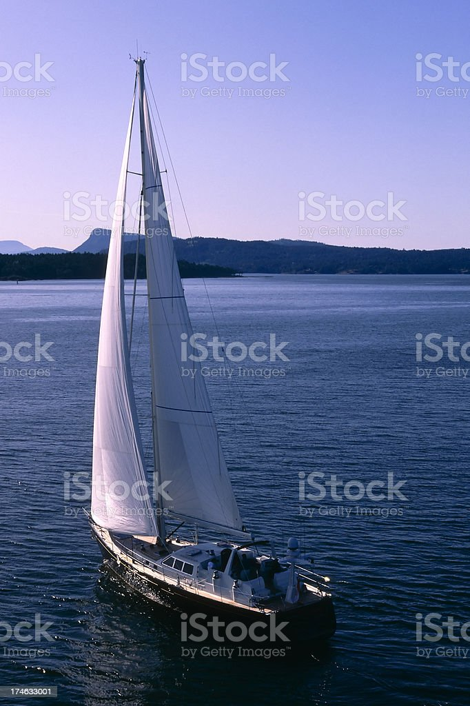 sailboat aerial sky copy space royalty-free stock photo