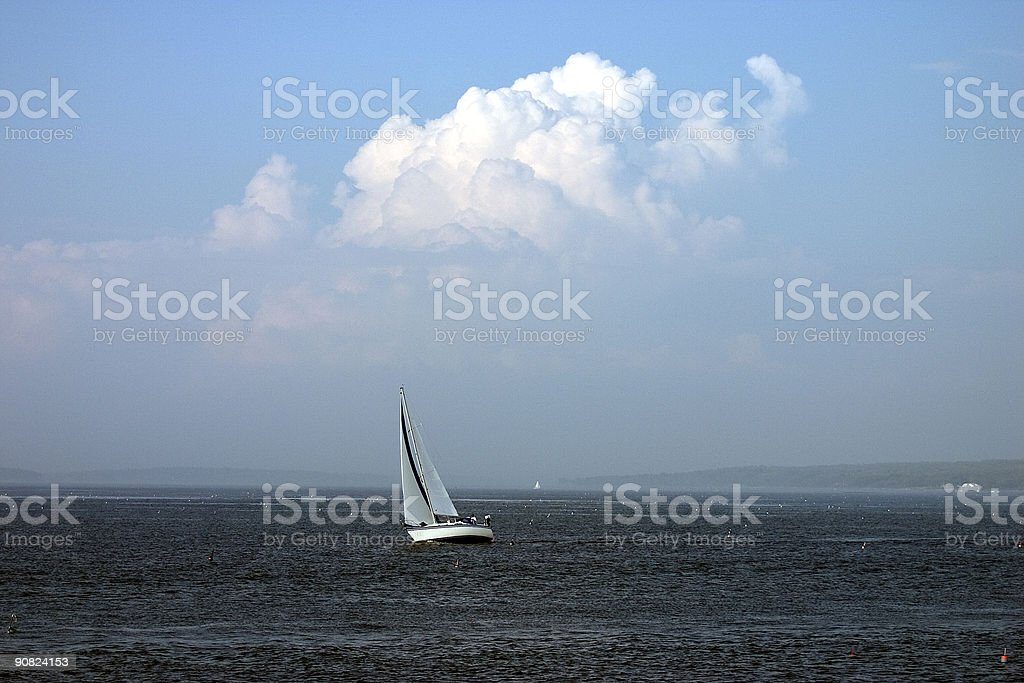 Sailboat and Cloud Formation royalty-free stock photo