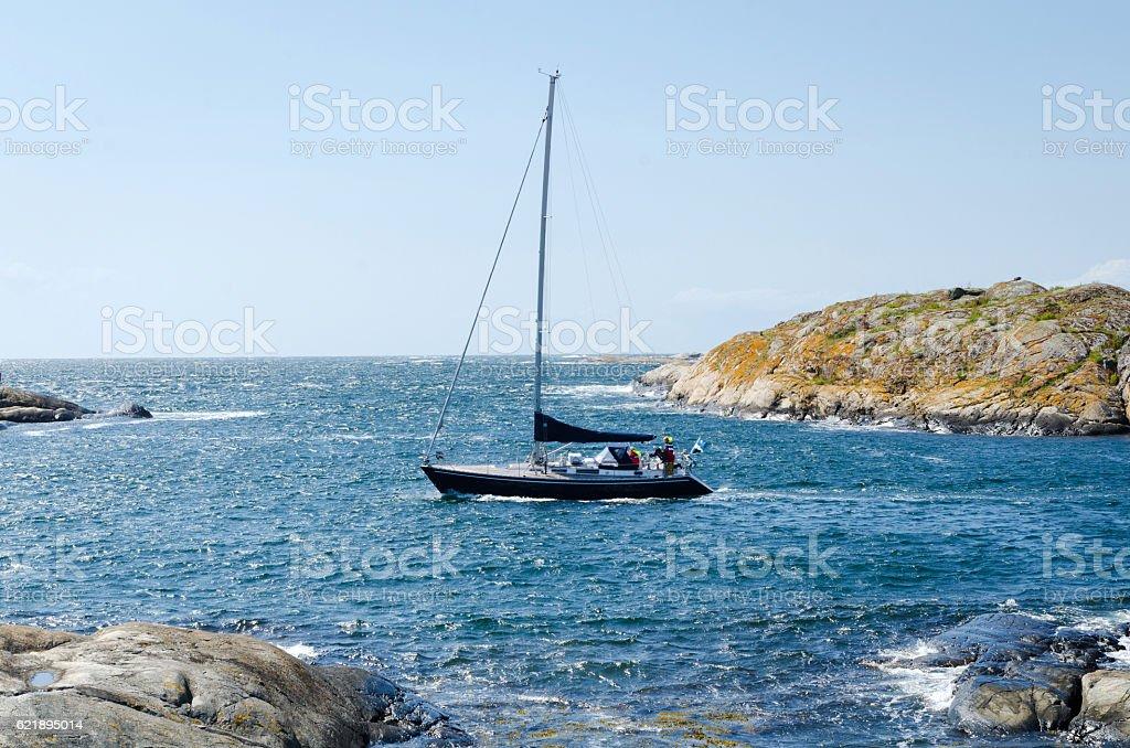 sailboat at the westcoast stock photo