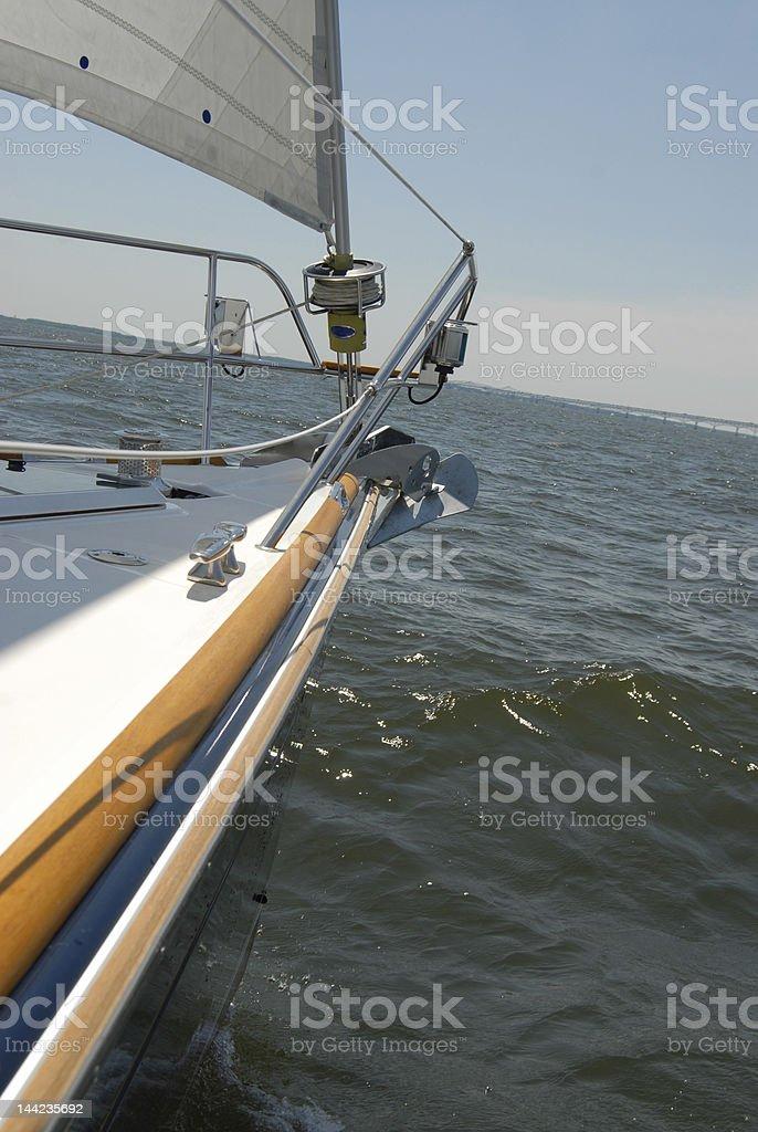 Sailboat bow royalty-free stock photo
