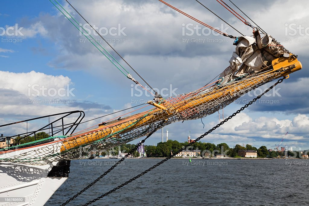 Sailboat detail stock photo