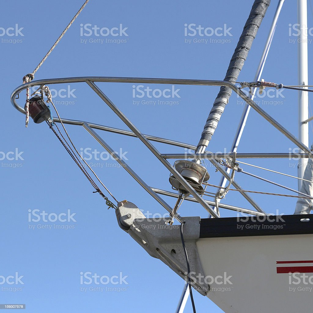 Sailboat detail royalty-free stock photo