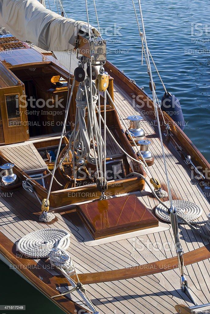 Sailboat details royalty-free stock photo