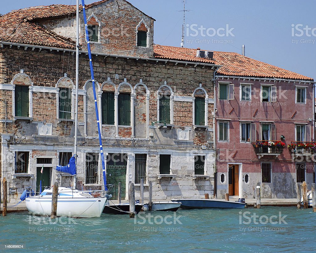 Sailboat Dock Venice royalty-free stock photo