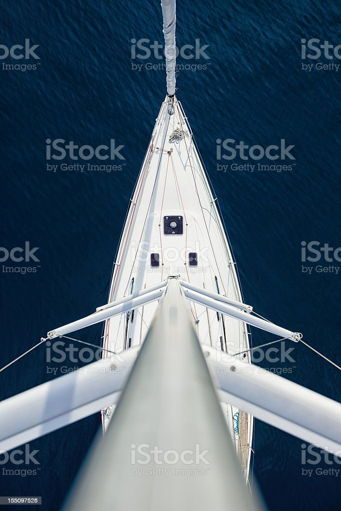 Sailboat from above stock photo