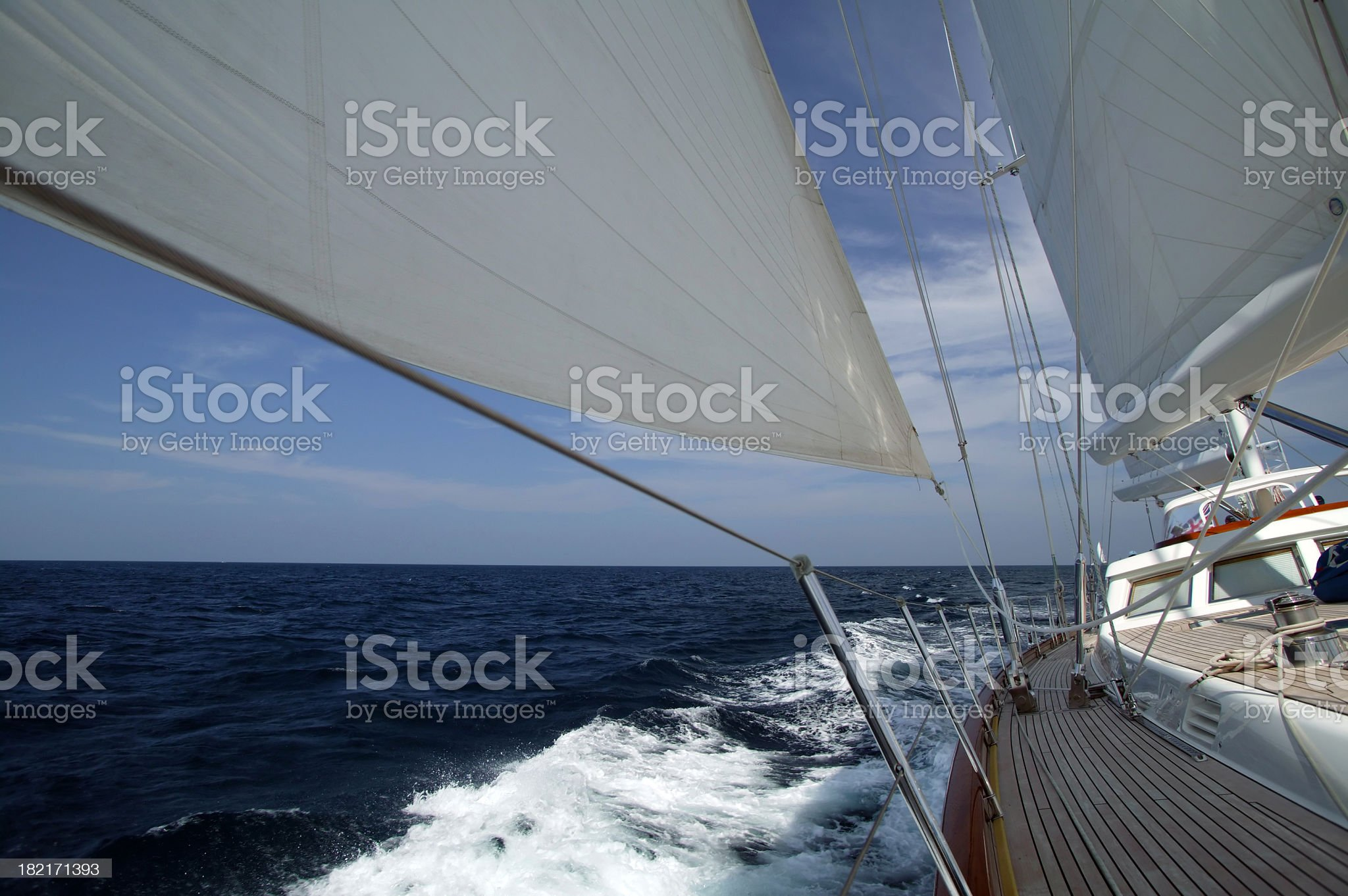 Sailboat gliding by Regatta, Phuket royalty-free stock photo