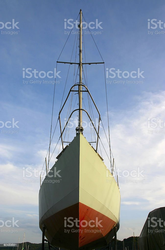 sailboat in dock royalty-free stock photo