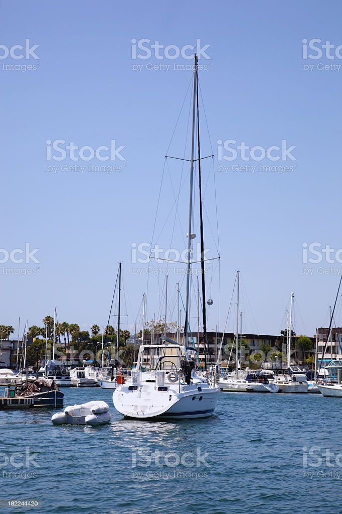 Sailboat in Marina royalty-free stock photo