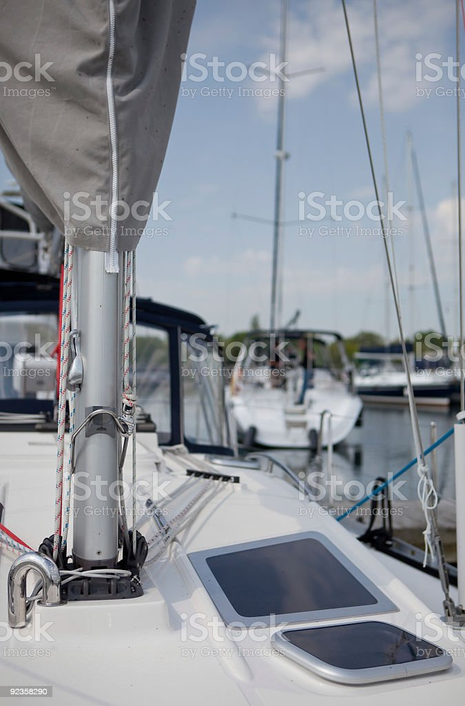 Sailboat in Marina stock photo