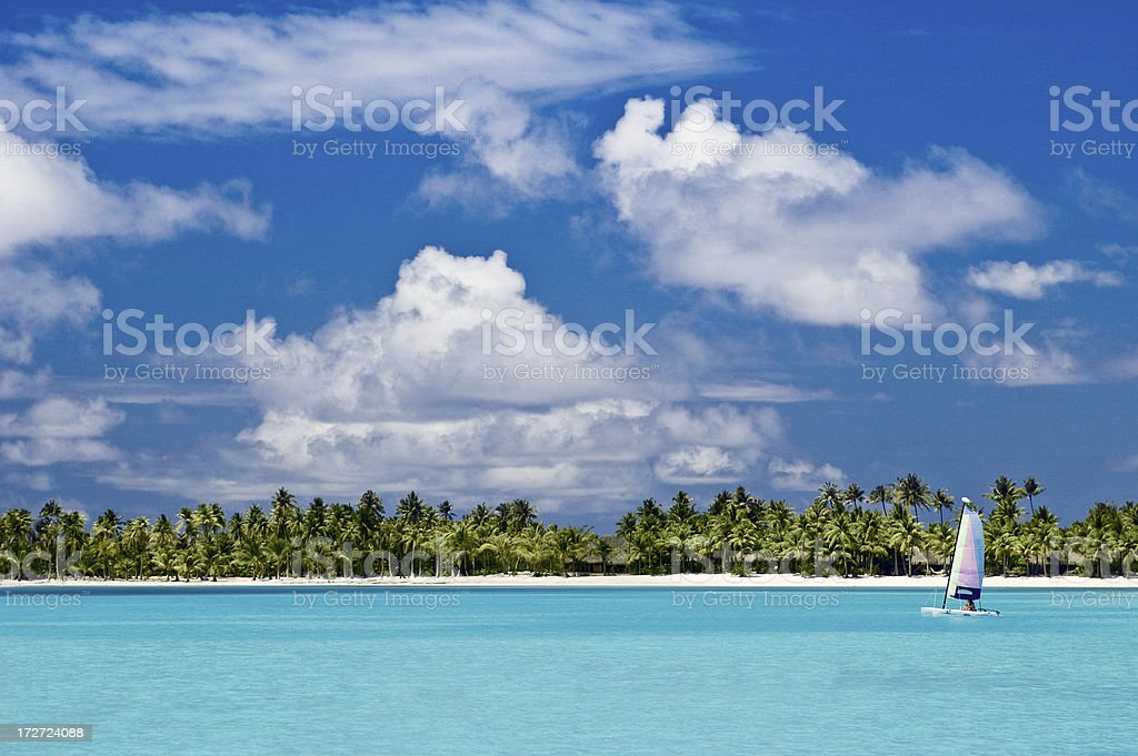 Sailboat in Paradise royalty-free stock photo