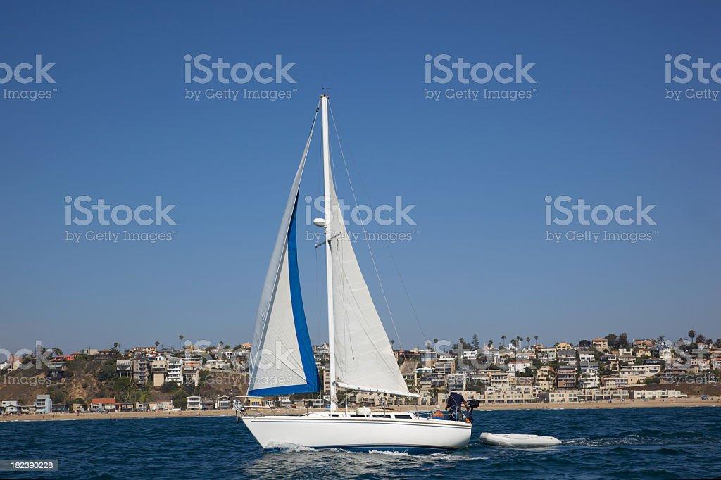 Sailboat in Southern California royalty-free stock photo