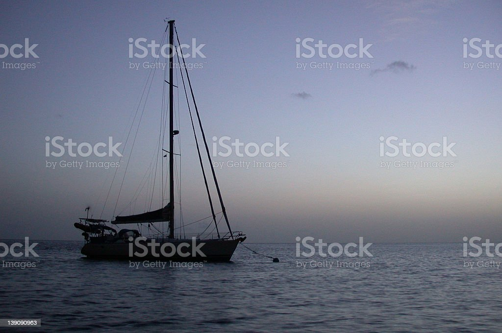 Sailboat in St.Lucia stock photo